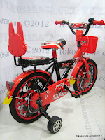 3 Sepeda Anak Red Fox 16-1108-9 Cap Sedan 16 Inci