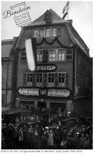 Hauptstraße 70, 1926, Bild zur Verfügung gestellt von Peter Christ, Bensheim