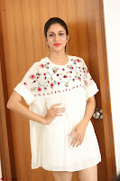 Lavanya Tripathi in Summer Style Spicy Short White Dress at her Interview  Exclusive 205.JPG