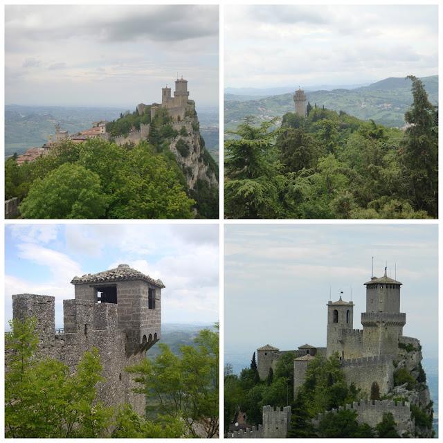 Primeira e Terceira Torres vistas da Segunda Torre - San Marino