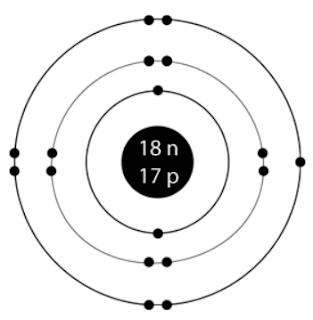 chlorine valence electrons