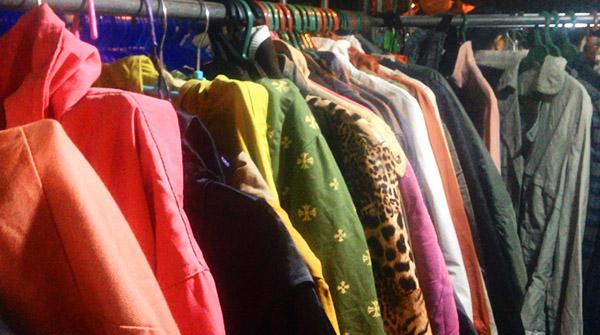 jackets at night market (Baguio)