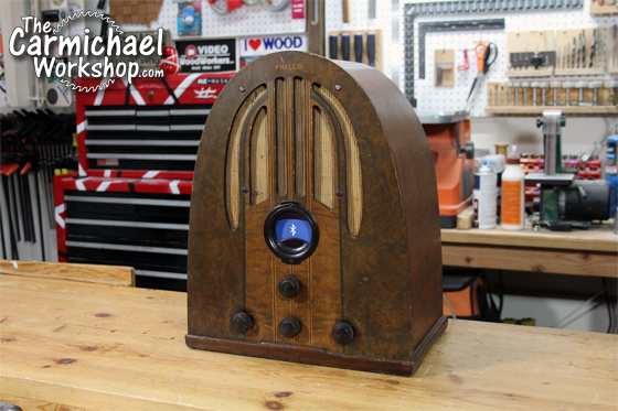 The Carmichael Workshop 1937 Philco Radio Bluetooth Speaker
