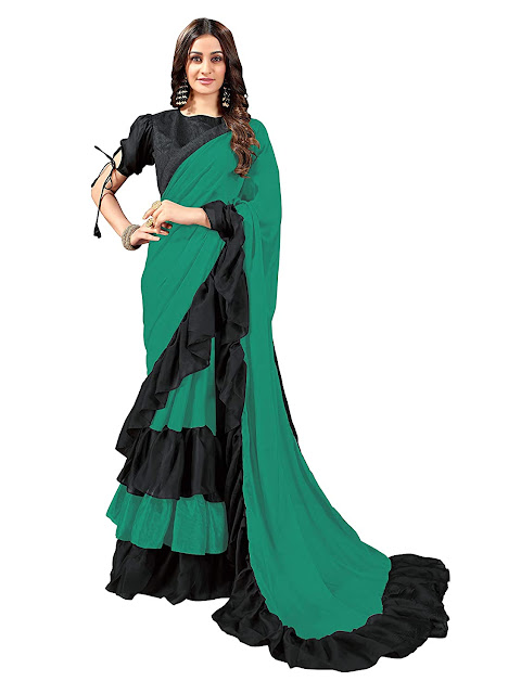 Georgette Saree With Blouse Piece for Women