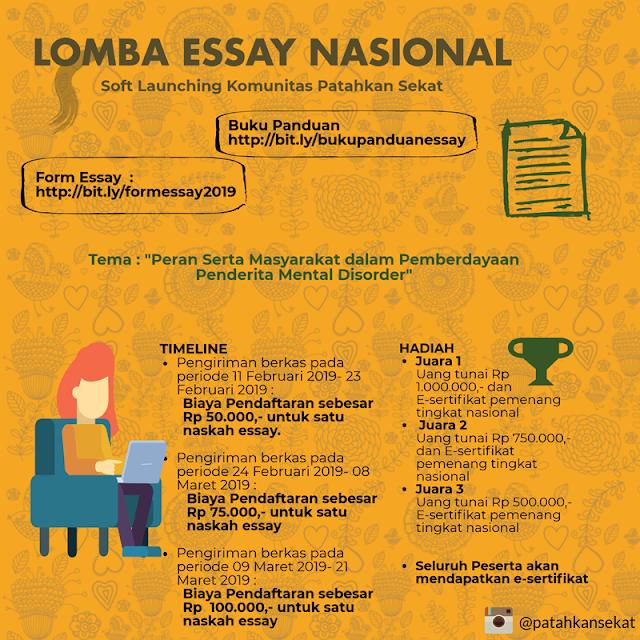 Lomba Essay Nasional Patahkan Sekat 2019 Umum