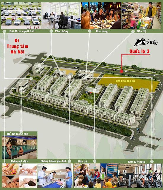 Mặt bằng thiết kế dự án Happy Land 1/5 Đông Anh