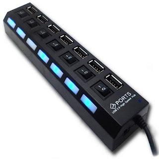 HUB USB 7 PORTA USB INTERRUTTORI ON TENCK