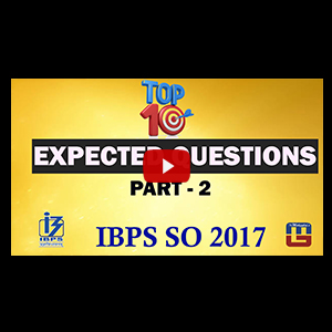 Top 10 Expected Questions | Part 2 | Reasoning | IBPS Specialist Officer (SO) 2017