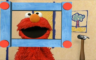 The frame moves to in front of Elmo and Elmo is framed. Sesame Street Elmo's World Building Things Elmo's Question