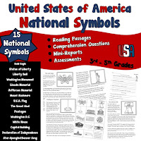 15 National Symbols of America Nonfiction Reading Passages