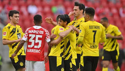 ملخص واهداف مباراة بوروسيا دورتموند وماينز (3-1) الدوري الالماني