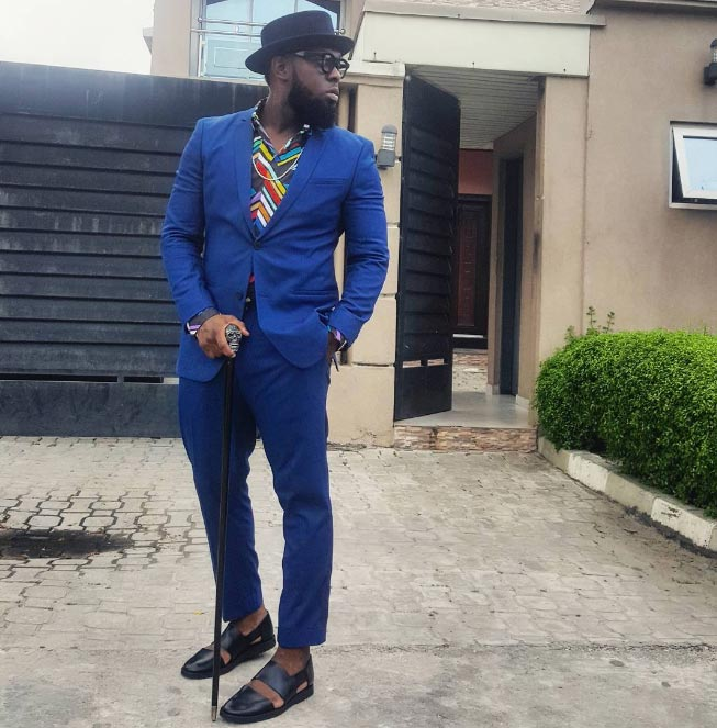 And singer Timaya is another person looking dapper today