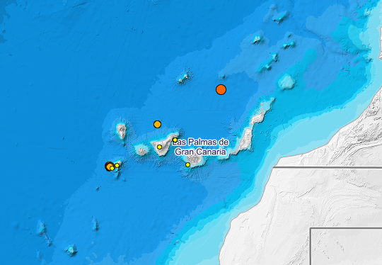 Terremoto de magnitud 3.3 grados en el Atlántico Canarias 12 junio 2021