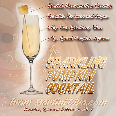Sparkling Pumpkin Cocktail with Ingredients & Instructions