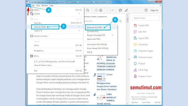 cara kompres file pdf di adobe acrobat reader dc