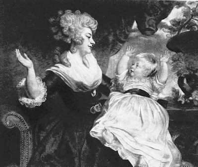 Georgiana, Duchess of Devonshire, and child  after the painting by Sir Joshua Reynolds  from The Two Duchesses (1898)
