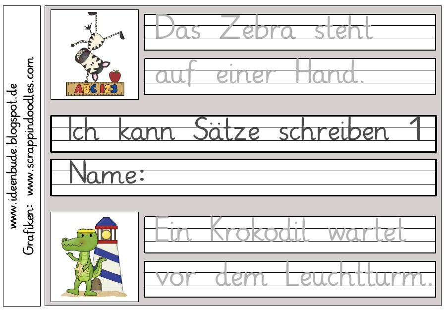 Briefe Schreiben Lernen 5 Klasse : Ideenbude ich kann sätze schreiben