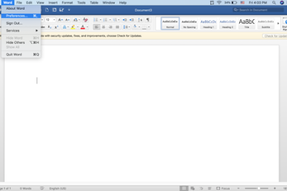 Cara Mengubah Tema Microsoft Office di Mac