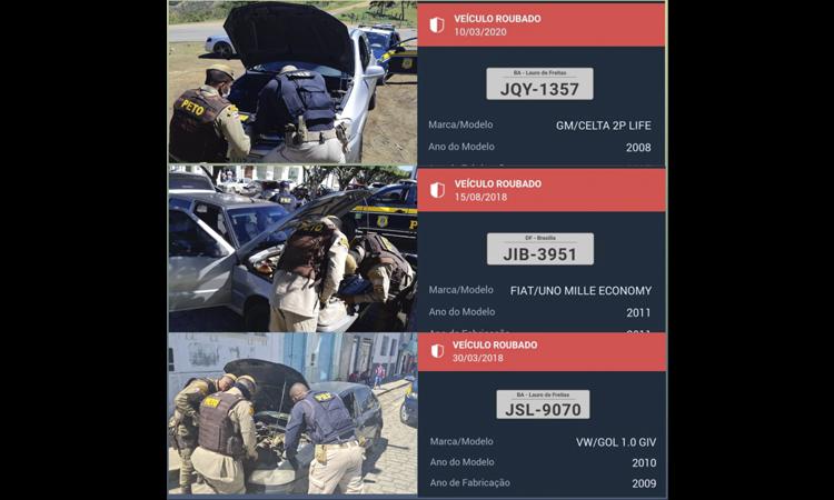 Polícia recupera cinco carros com restrição de roubo ou furto em Itiruçu e Lajedo do Tabocal
