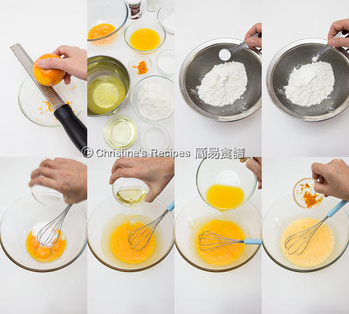 橙汁戚風蛋糕製作圖 Orange Chiffon Cake Procedures01