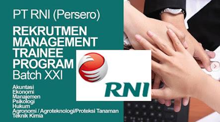 Lowongan Kerja BUMN PT Rajawali Nusantara Indonesia - RNI Persero
