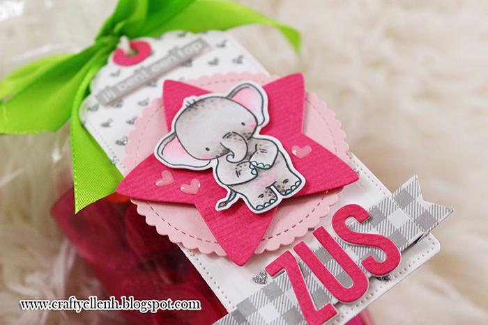 #bigsistergift #copicmarker #LawnFawn #MFT #stamps #HelloBlueBird #puffystarstackables #ElephantFriendsStamp #DIY #babyDIYseris #PuddlePlay