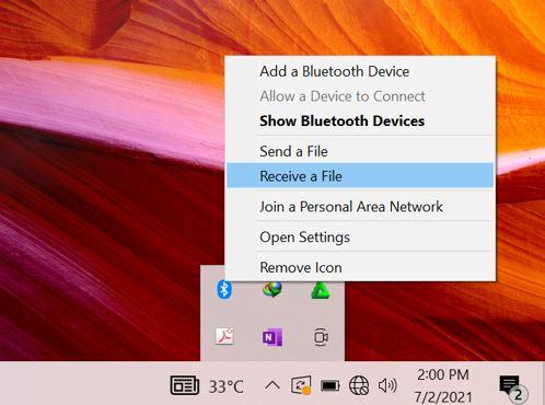 Cara Menerima File Lewat Bluetooth di Laptop