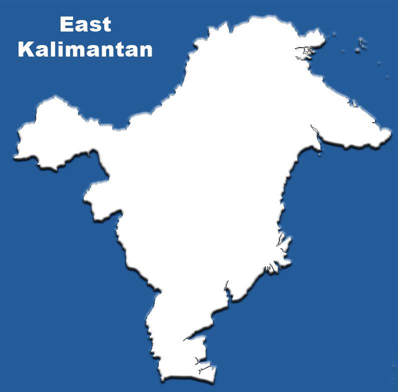 image: East Kalimantan Blank Map
