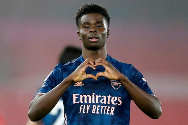 Arsenal star Bukayo Saka