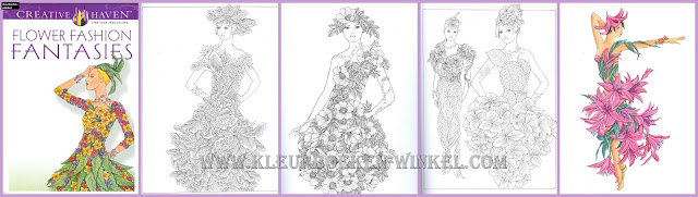 kleurboek bloemen, flower fashion fantasies
