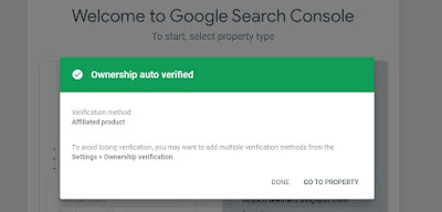 auto ownership verification search console