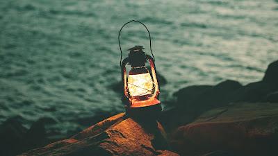 Lantern, Garland, Light, Stones