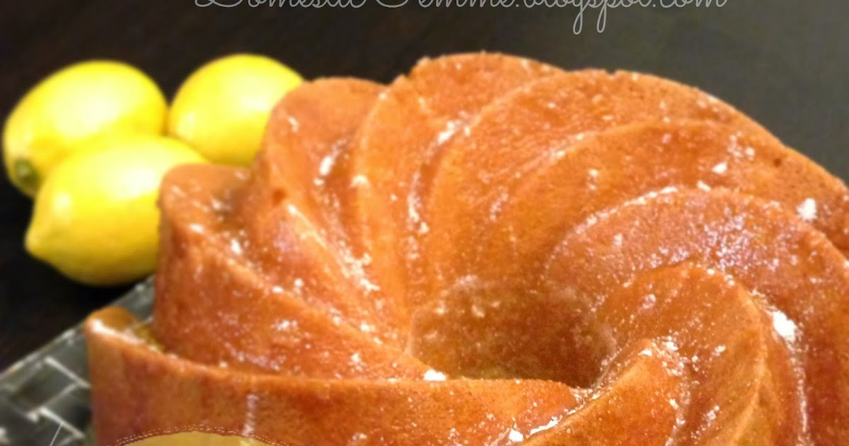 Lemon Bundt Cake With Lemon Pudding Mix