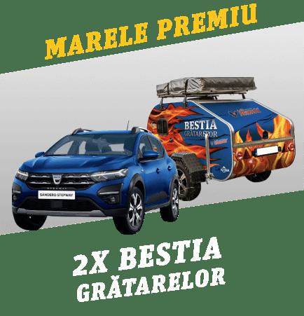Concurs Neumarkt Bestia Gratarelor - Castiga 2 Sandero Stepway si rulota echipata cu gratar si frigider - 2021 - castiga.net