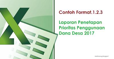 contoh format pelaporan hasil penetapan prioritas penggunaaan dana desa