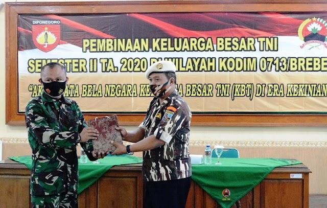 Kodim Brebes Silaturahmi dengan Keluarga Besar TNI