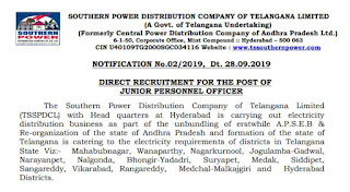 TSSPDCL Junior Personnel officer (JPO) Previous Question Papers & Syllabus