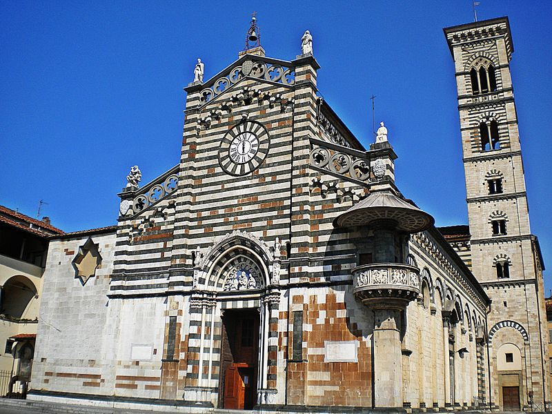 The Duomo di Prato (Prato Cathedral) is about a half-hour drive northwest of Florence, Italy. Photo: WikiMedia.org.