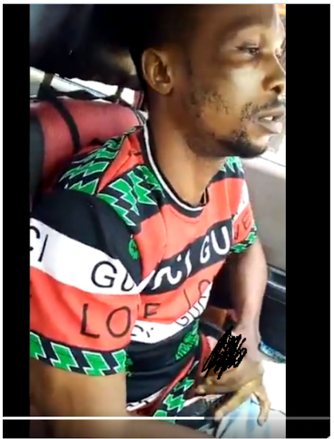 Foolish Nigerian cab driver masturbates and ejaculates while driving a few women in his car (18+ video)
