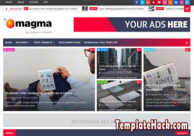 magma news blogger template