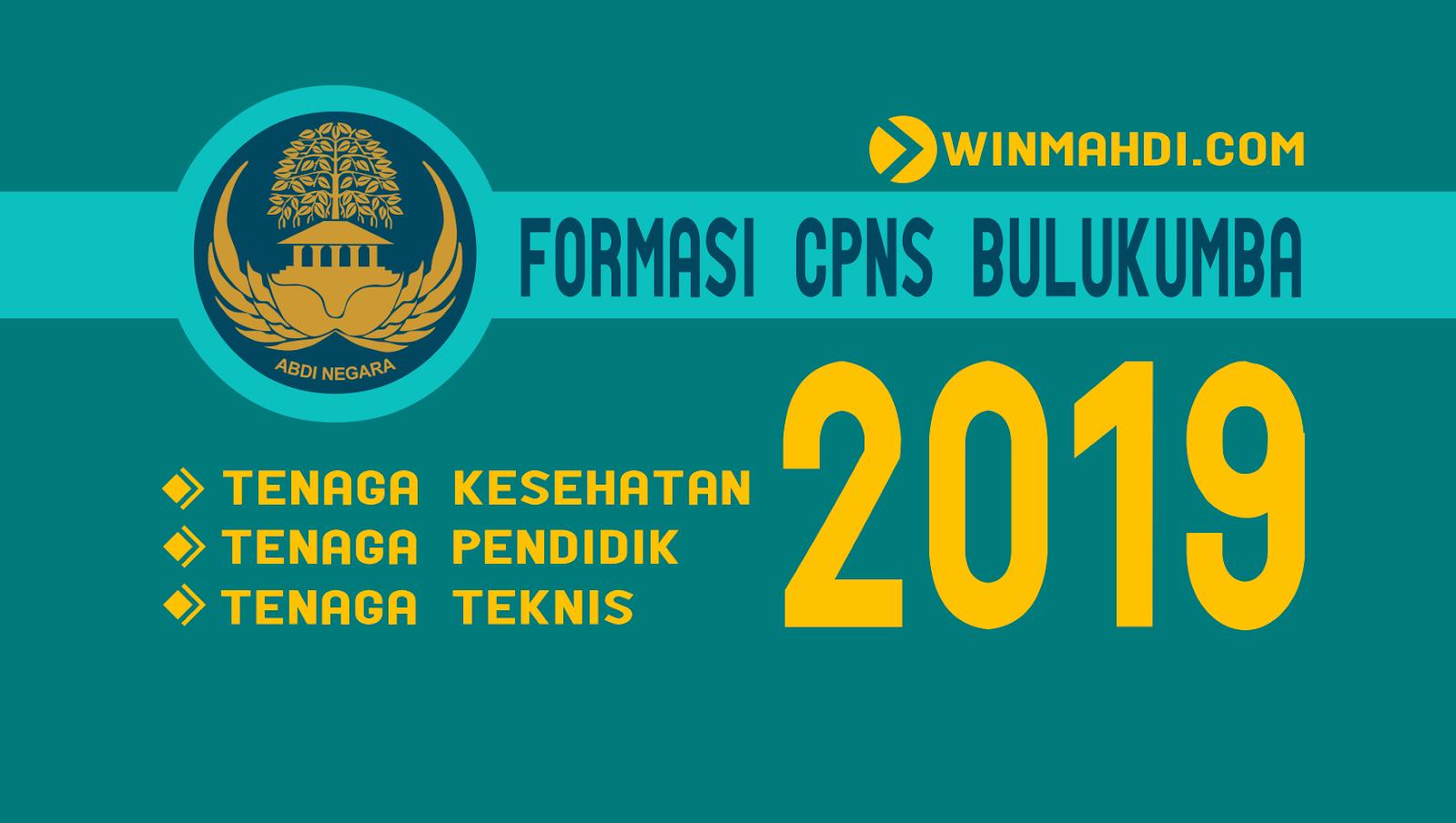 Daftar Formasi CPNS 2019 Bulukumba