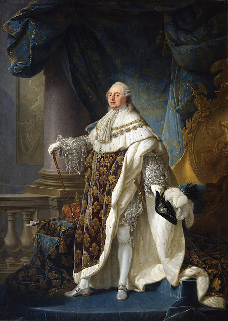 Portrait of Louis XVI, king of France in Versailles painted by Callet, 1779. Importance of Pirouettes. marchmatron.com