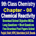 Chemical Reactivity | Chemistry 9 Class Notes - Easy Notes