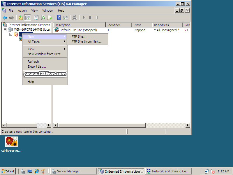 Cài đặt và cấu hình FTP Server trên Windows Server 2008