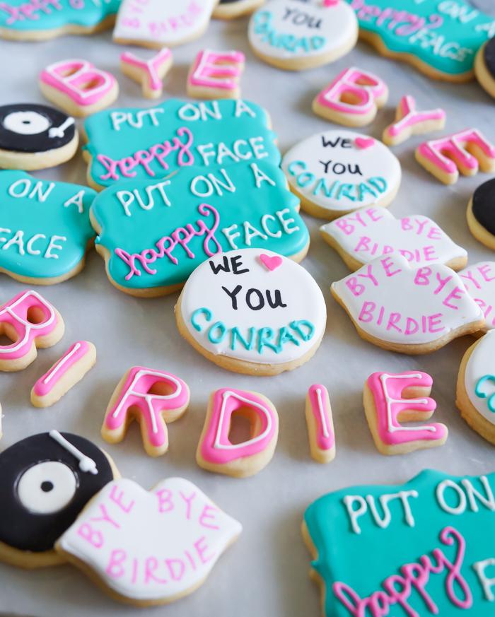 bye bye birdie decorated cookies