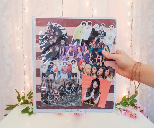 DIY Kpop Collage Binder Cover