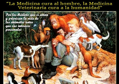La medicina cura al hombre, la Medicina Veterinaria cura a la humanidad.