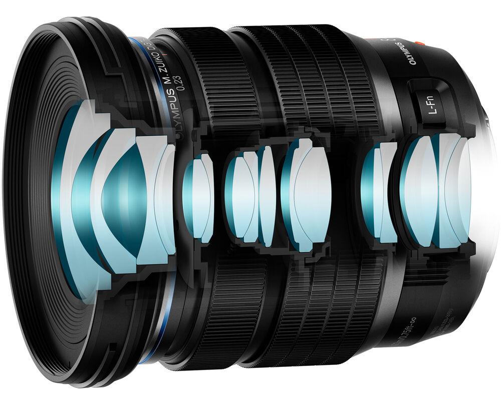 Olympus M.Zuiko Digital ED 8-25mm f/4 Pro в разрезе