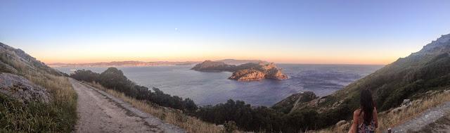 Panorámica Ruta Monte Faro Islas Cíes