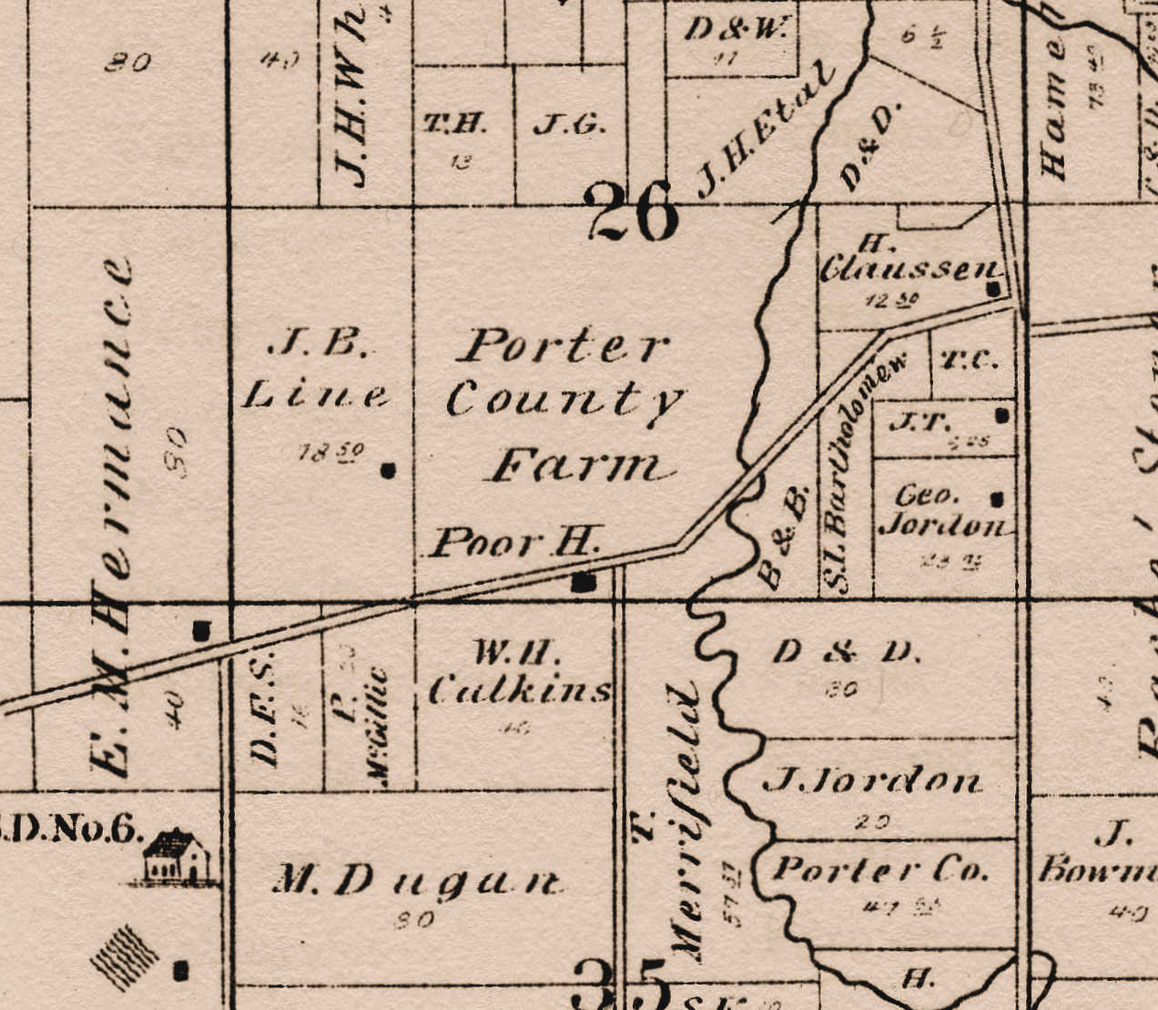 Porter Indiana Map.Porter County S Past An Amateur Historian S Perspective Brief
